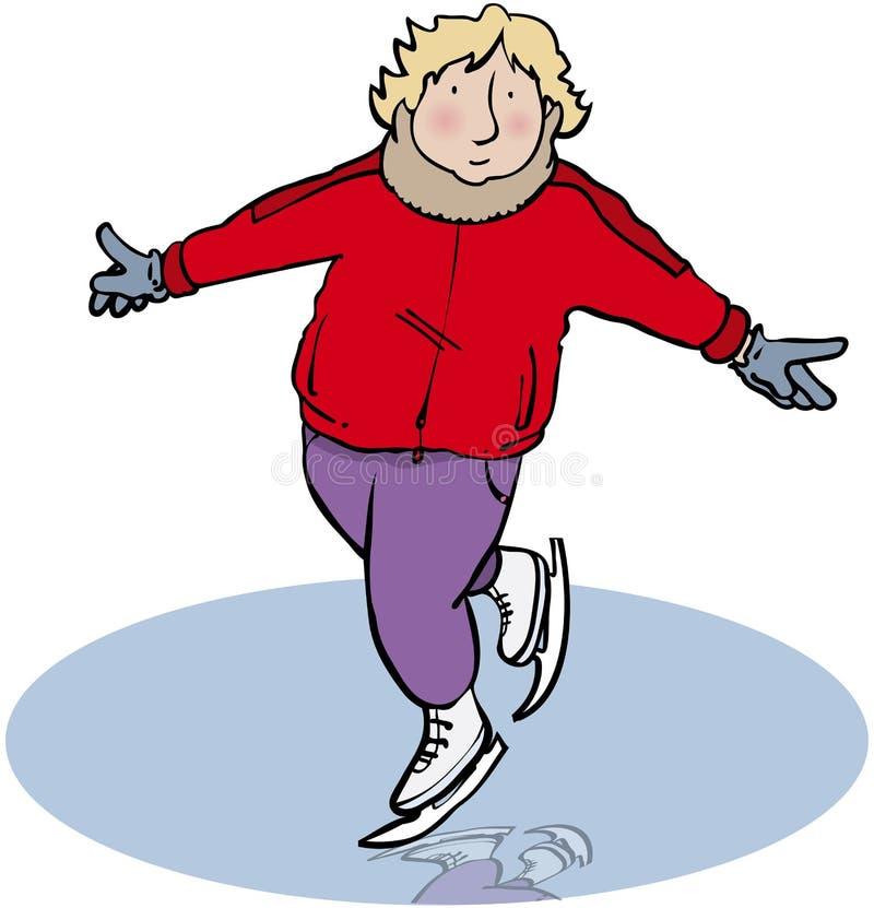 Ice-skater vector illustration