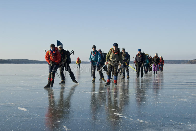 Download Ice skaters Sweden editorial stock image. Image of horizontal - 27141574