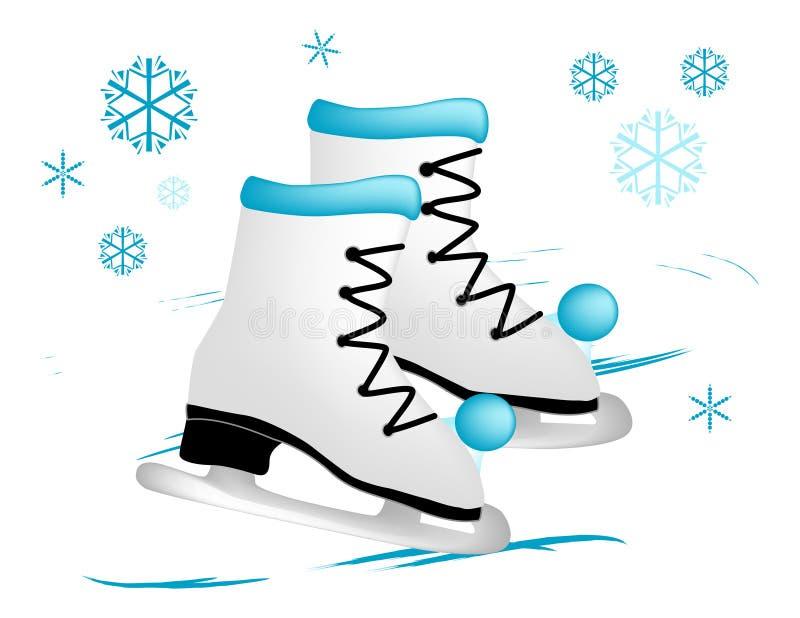 Ice Skates stock illustration