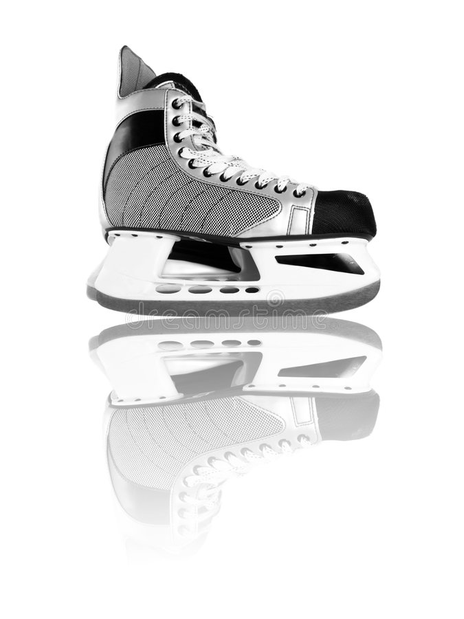 Ice skates stock photo