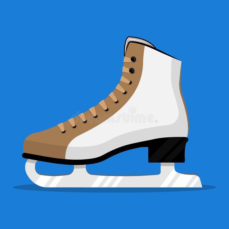 Ice skates. Figure skates. Eps 10 royalty free illustration
