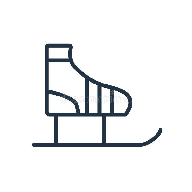 Ice skates icon vector isolated on white background, Ice skates sign stock illustration