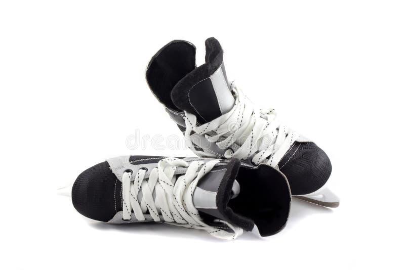 Ice Skates Isolated On White. Royalty Free Stock Photo