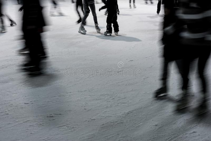 Ice skating abstract royalty free stock photography