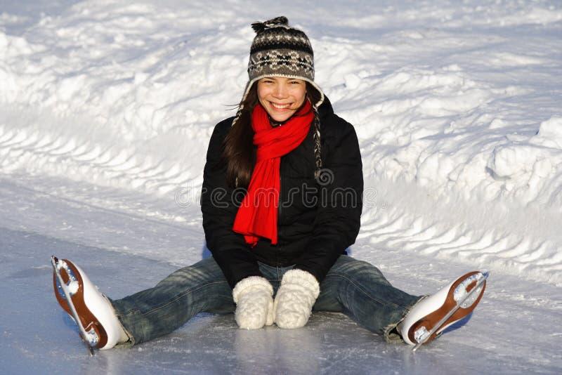 Ice skating girl stock photography