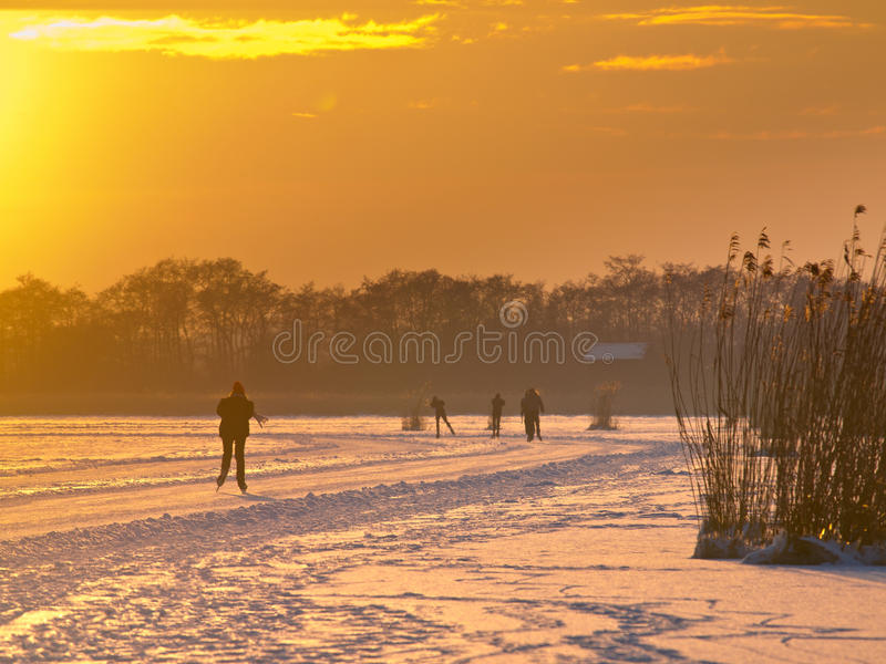 Download Ice Skating In The Netherlands Stock Image - Image of athletic, dutch: 27057495