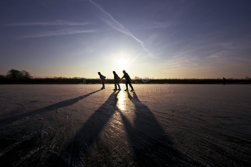 Download Ice Skating In The Netherlands Stock Image - Image: 3897297