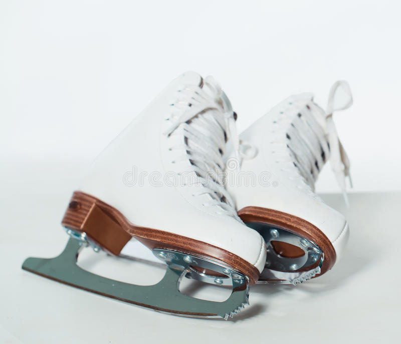 Ice skating shoes royalty free stock photography