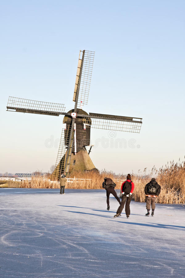 Download Ice Skating In Winter In The Netherlands Stock Photo - Image: 21469426