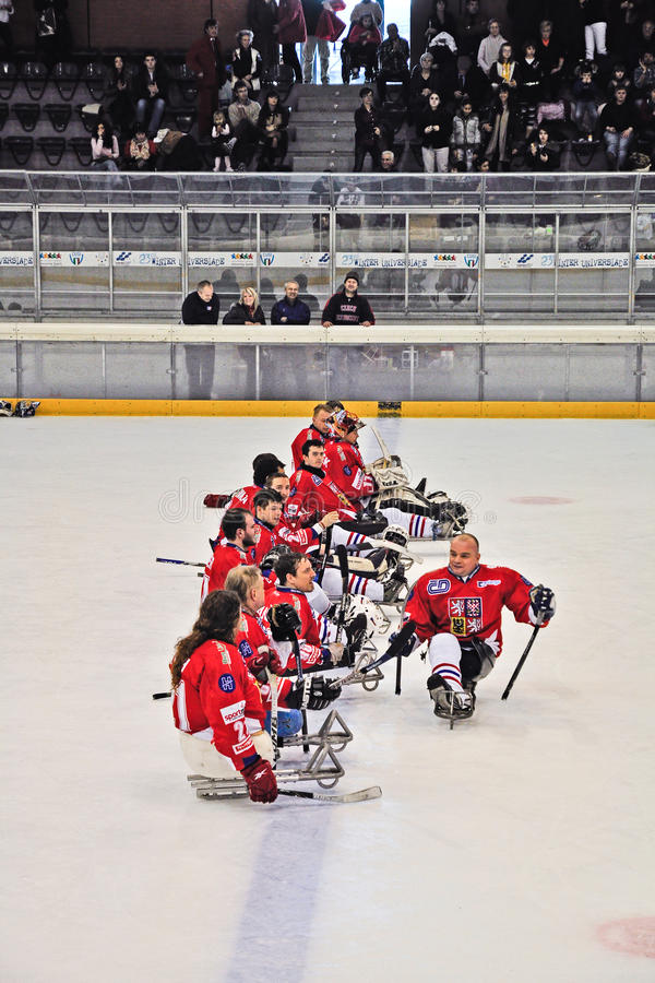 Download Ice Sledge Hockey editorial stock image. Image of sport - 23631964