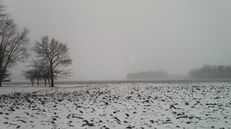 Ice and Snow, off of Kemp Road in Lima, Ohio stock photography