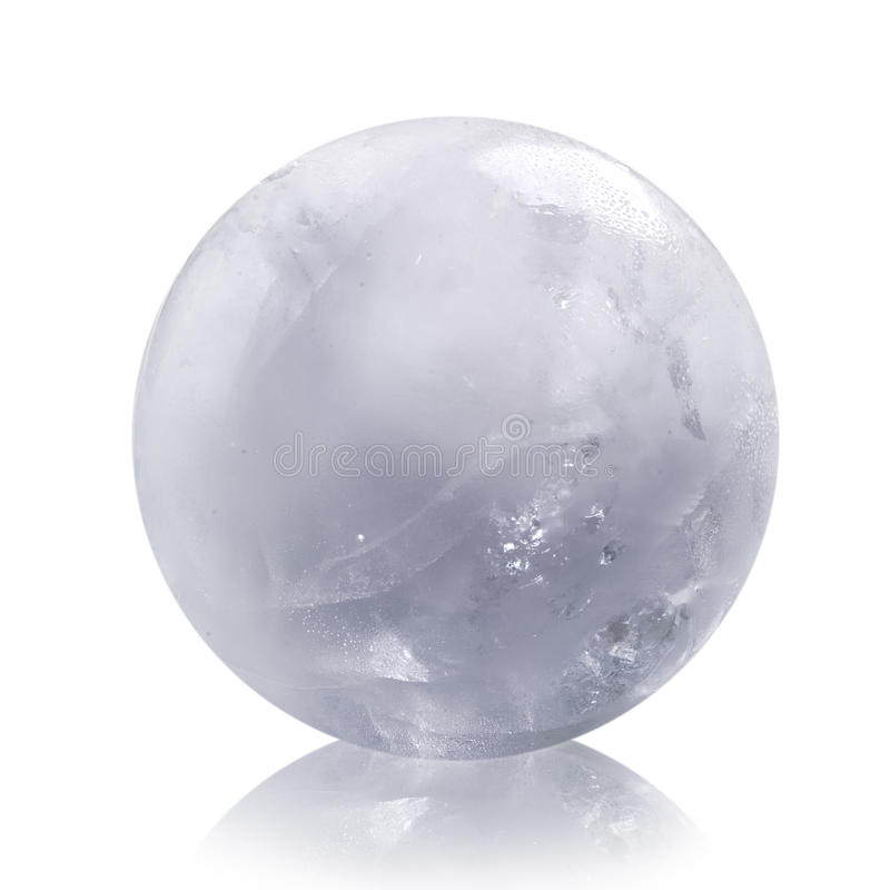 Ice sphere stock photo
