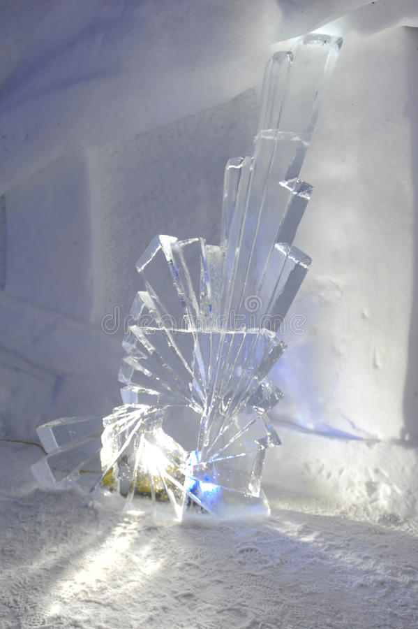 Ice statue in an Igloo at Engelberg royalty free stock images