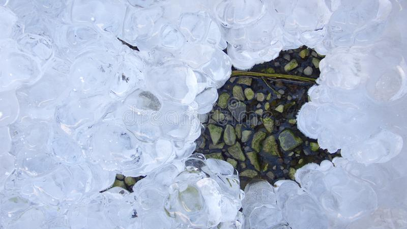 Download Ice on stones stock image. Image of crystal, melting, bubble - 3887119