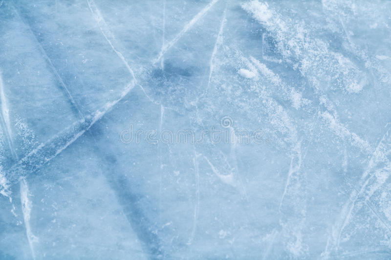 Ice surface. A background of ice surface cut with skate scratches royalty free stock photos