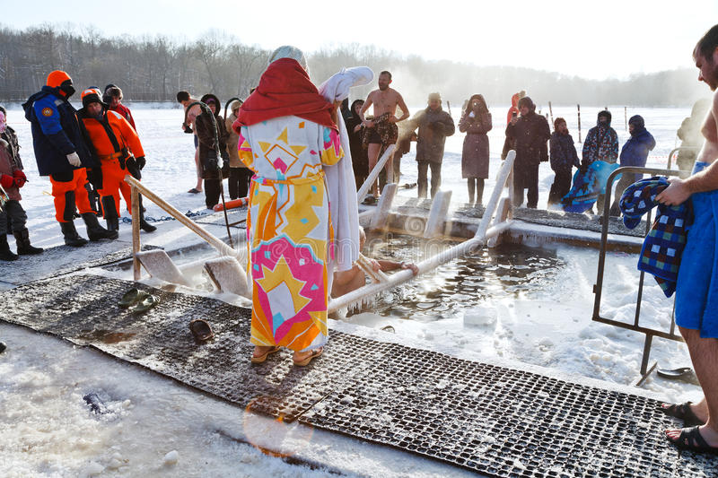 Ice swimming in Epiphany Day