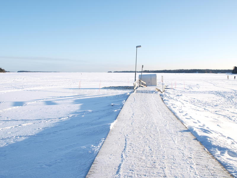 Ice swimming place