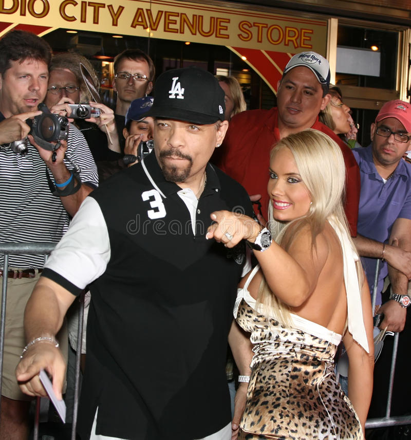 Ice-T and Coco stock image