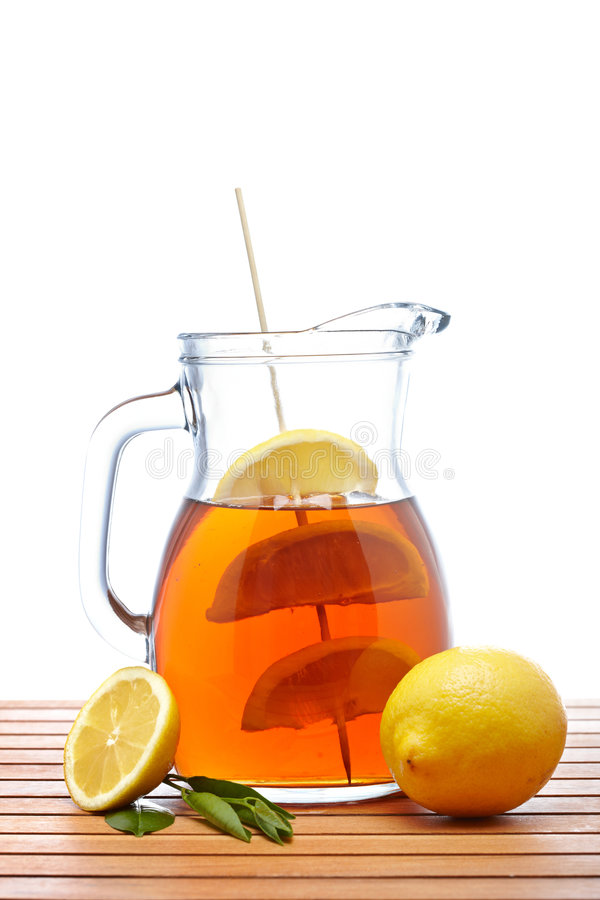 Download Ice Tea With Lemon Pitcher Royalty Free Stock Photos - Image: 9335058
