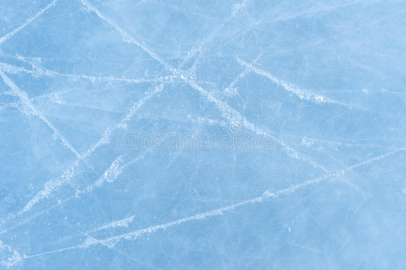 Ice texture on a skating rink stock image