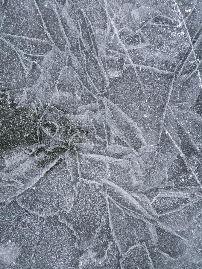 Ice texture, winter background stock photography