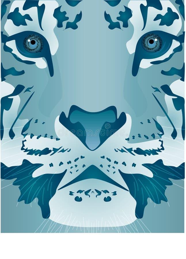 Ice Tiger royalty free illustration