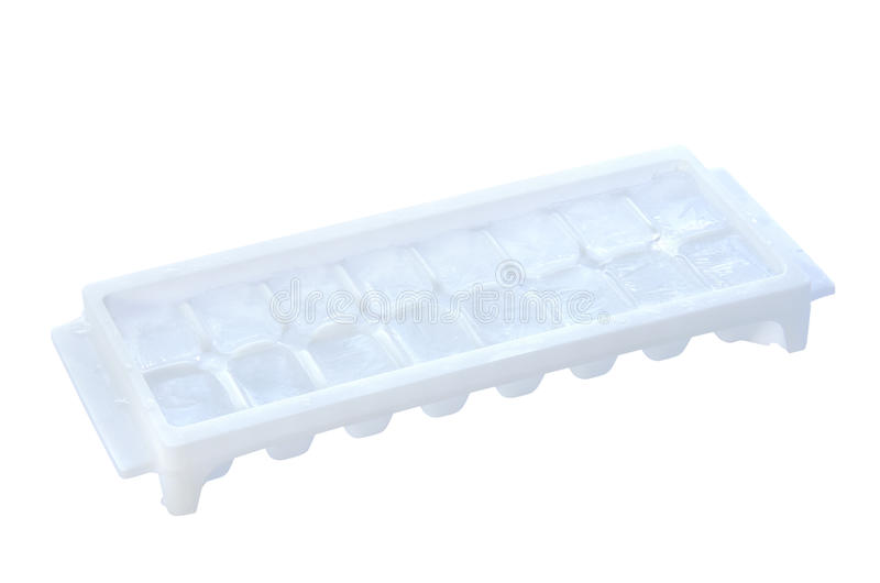 Download Ice tray with ice isolated stock photo. Image of frozen - 26230508