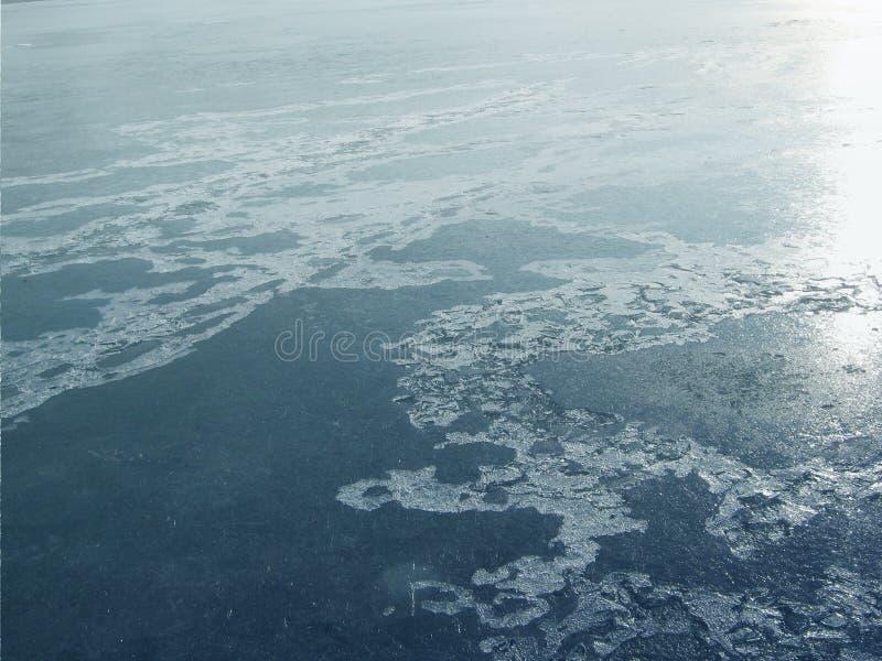 Ice valley of lake stock photos