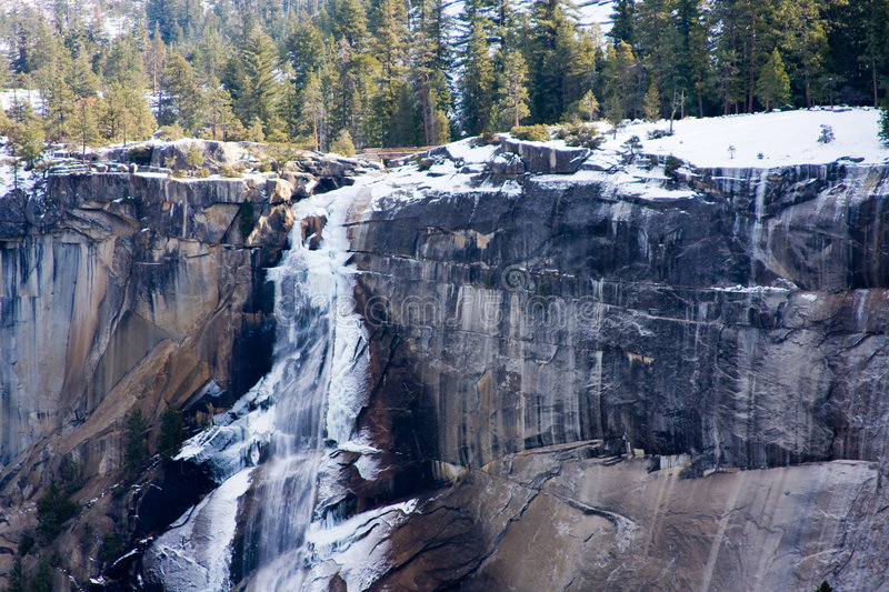 Download Ice on Vernal Falls stock image. Image of colour, black - 5007303