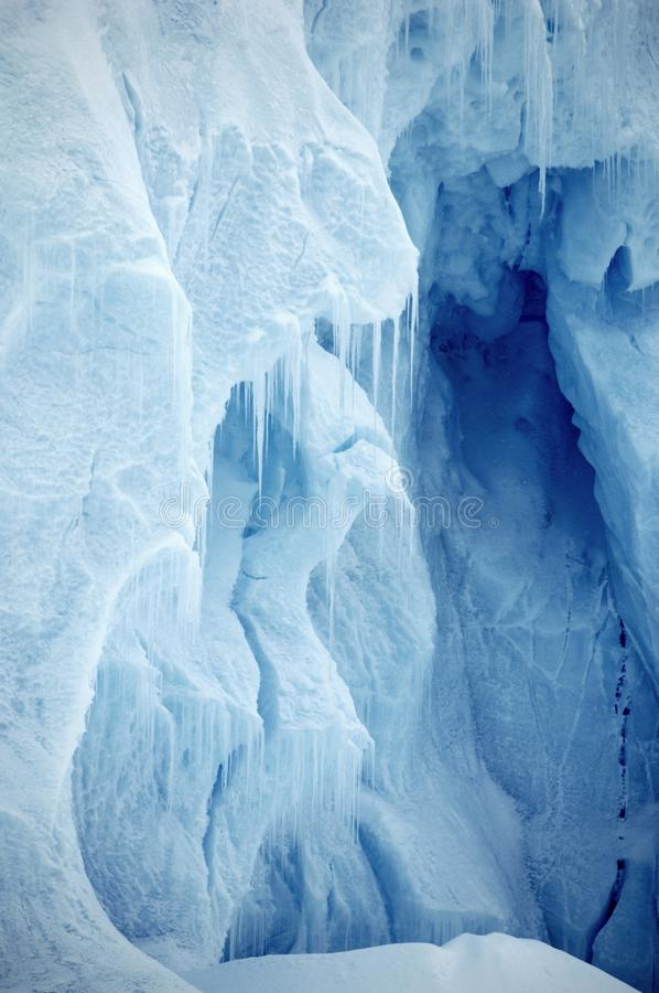Ice wall vertical stock photo