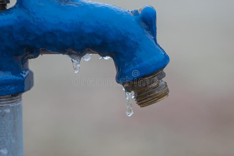 Download Ice On A Water Faucet Stock Photo - Image: 85178443