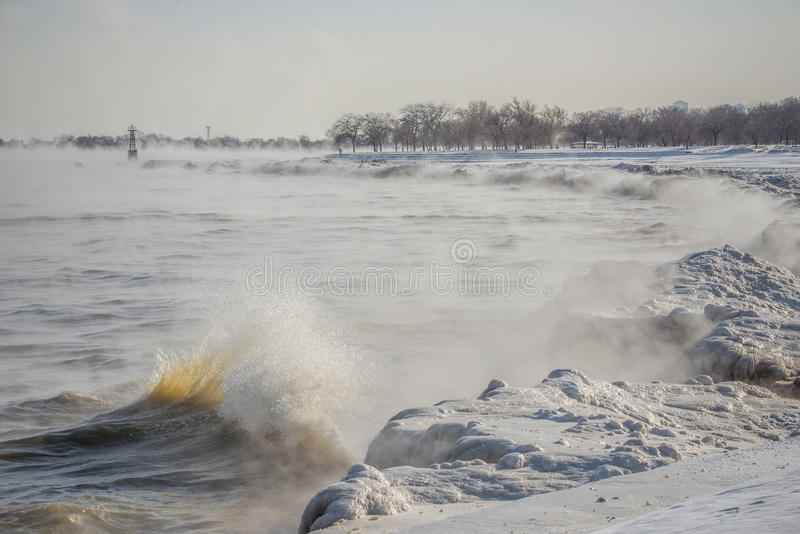 Ice Waves royalty free stock photography
