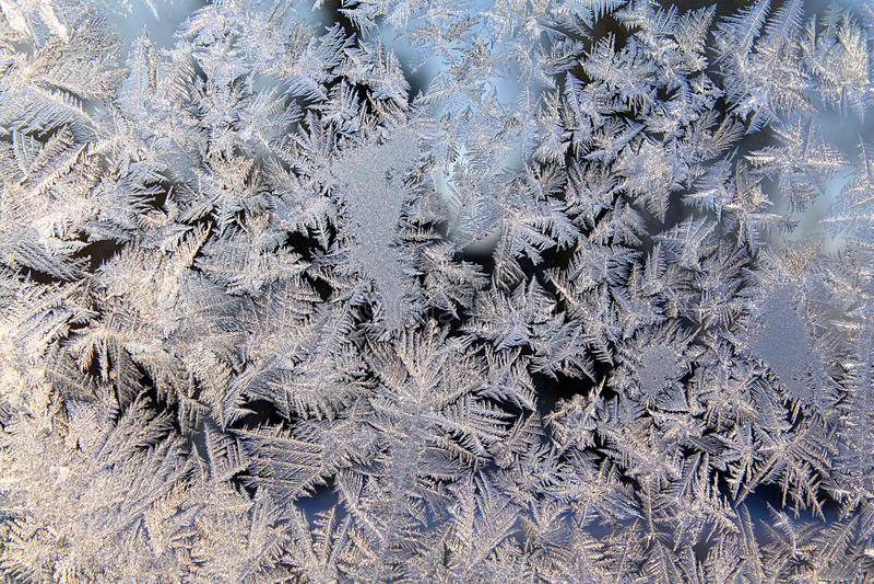 Ice on window stock photography