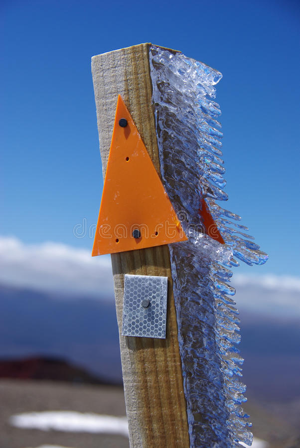 Download Ice on wooden post stock image. Image of outdoor, wintertime - 22675467