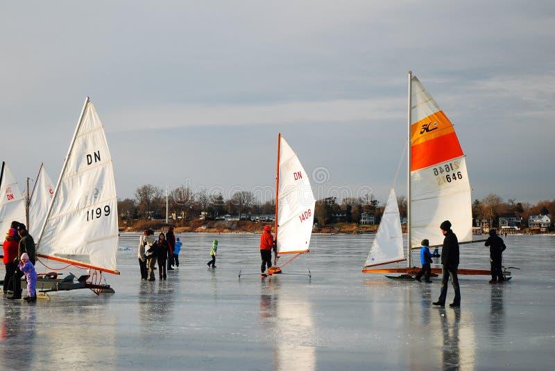 Ice Yacht Regatta stock photo