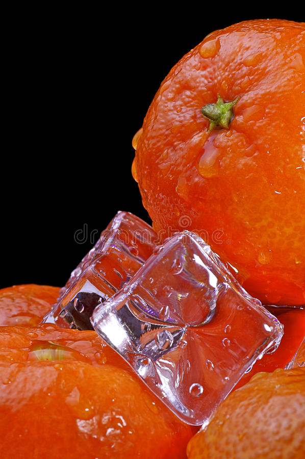 ice5 mandarynka fotografia stock