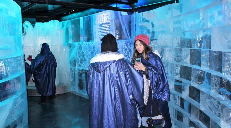At ICEBAR by ICEHOTEL Stockholm, Sweden. ICEBAR by ICEHOTEL Stockholm was built in 2002 as the world`s first permanent ice bar. Every year, interior and design stock photography