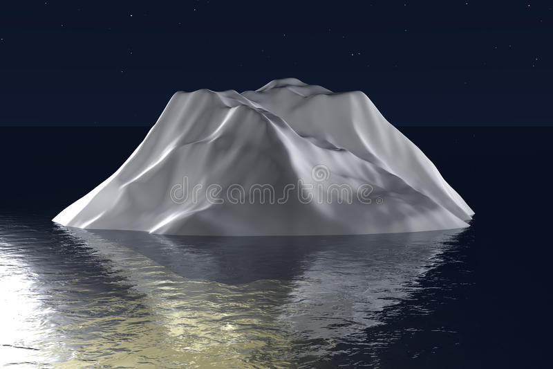 iceberg 3d illustrazione di stock