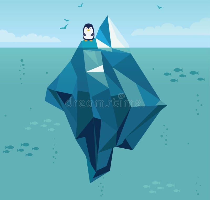 iceberg ilustração stock