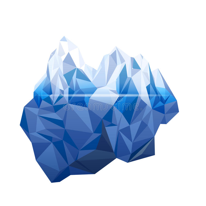 iceberg illustration stock