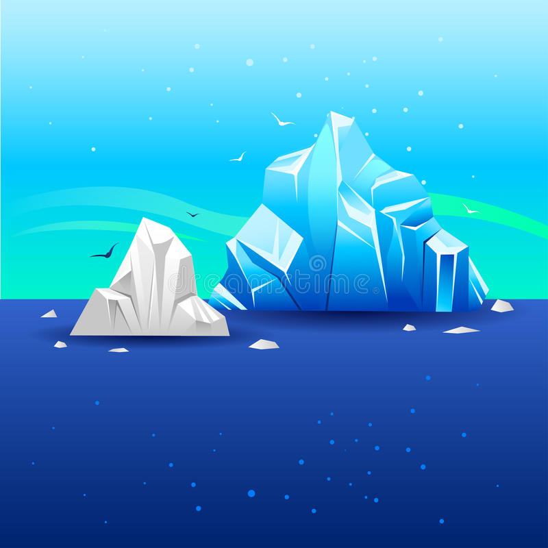 Iceberg 3 illustrazione di stock