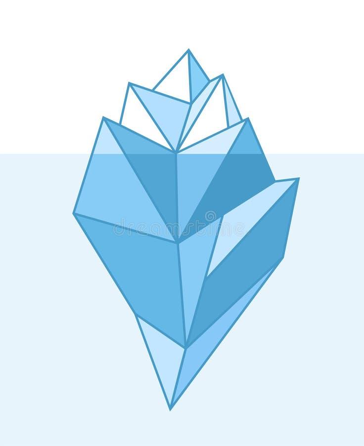 iceberg ilustracja wektor