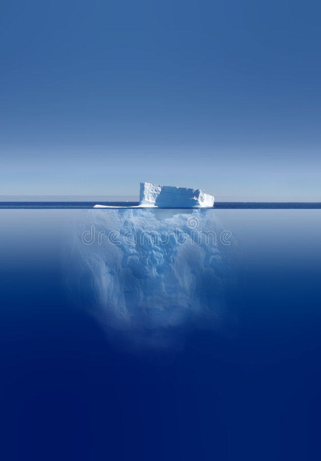 Iceberg acima e abaixo