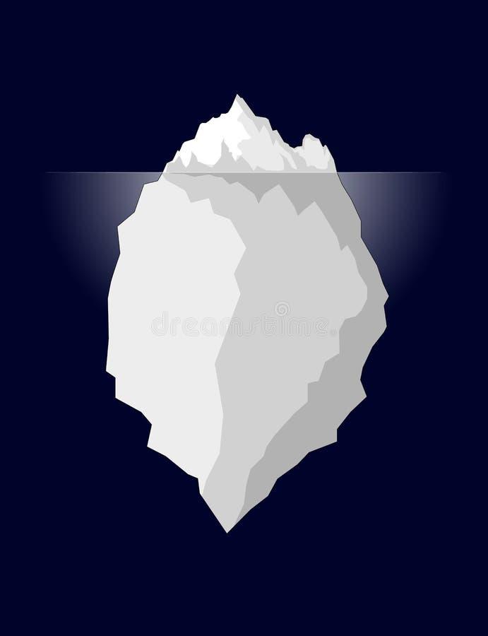 Iceberg in acqua di mare profondo scura Illustrazione Vettore royalty illustrazione gratis