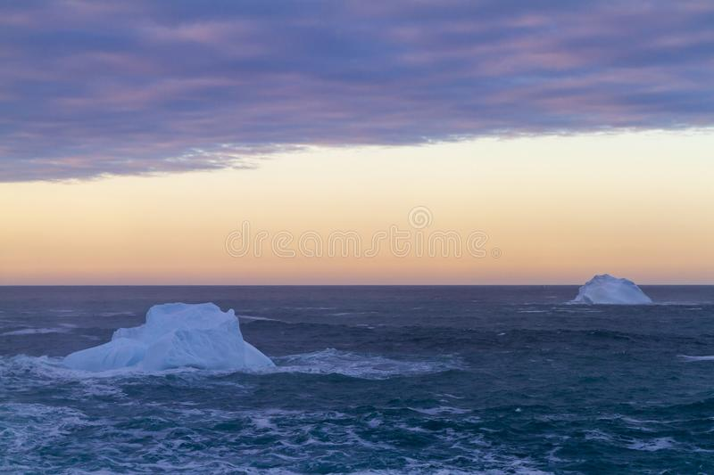 Iceberg along the Newfoundland coastline royalty free stock image