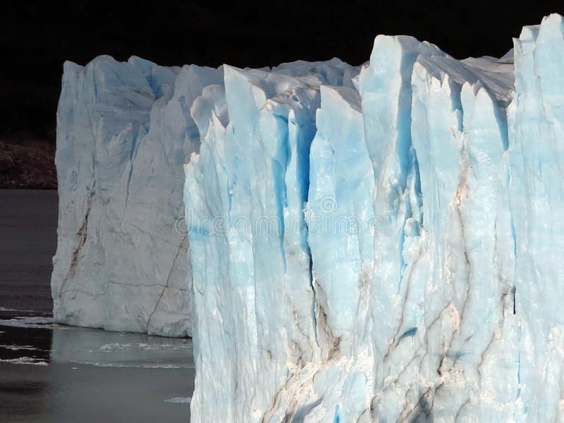 Iceberg. Arctic Glacier. The Wall of Blue Ice. stock images