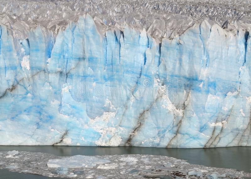Iceberg. Arctic Glacier. The Wall of Blue Ice. royalty free stock image