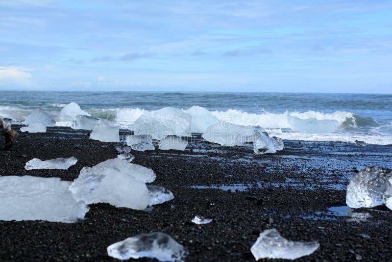Iceberg on the beach royalty free stock photos