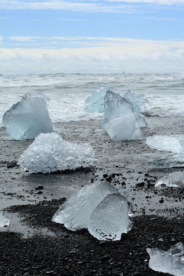 Iceberg on the beach royalty free stock photo