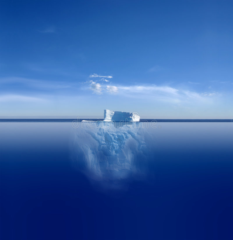 Iceberg blu fotografia stock libera da diritti